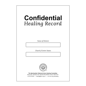 Confidential Healing Record Cards